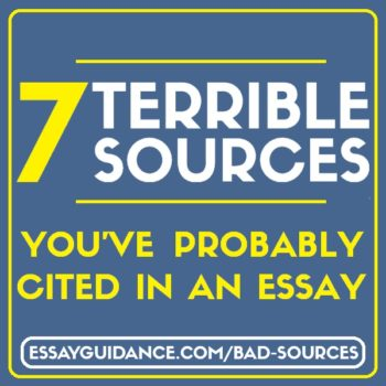 Bad essay sources