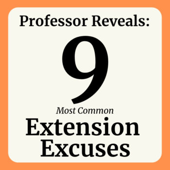 Reasons to ask for an extension