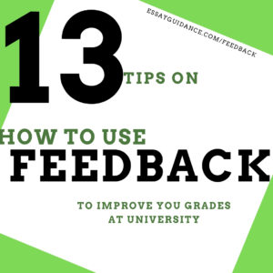 How to use feedback to improve your grades