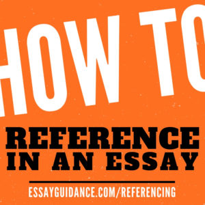 How to reference in an essay