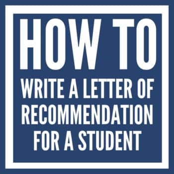 how to write a reference letter for a student