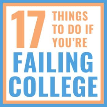what to do if you're failing college