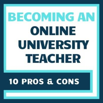 online college teaching pros and cons