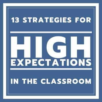high expectations for students in the classroom