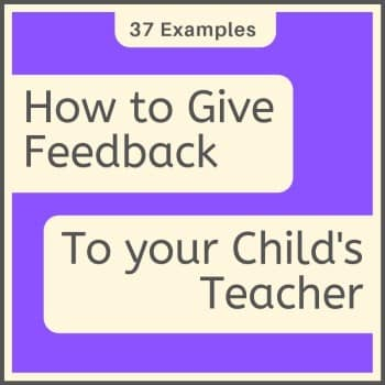 how to give feedback to teachers (from parents)
