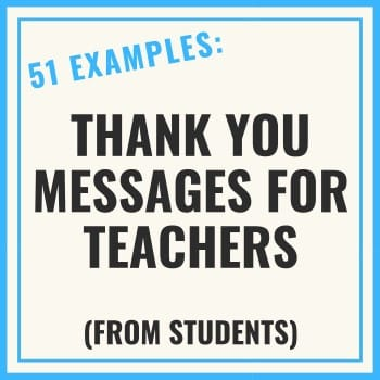 thank you message for teacher from student