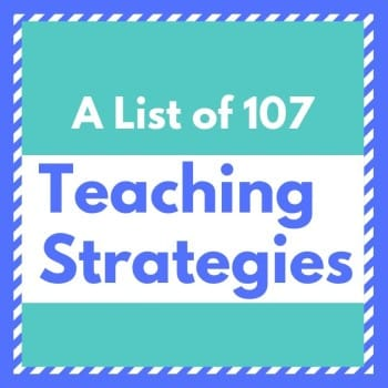 list of teaching strategies