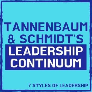 tannenbaum and schmit's leadership continuum