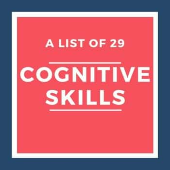list of cognitive skills