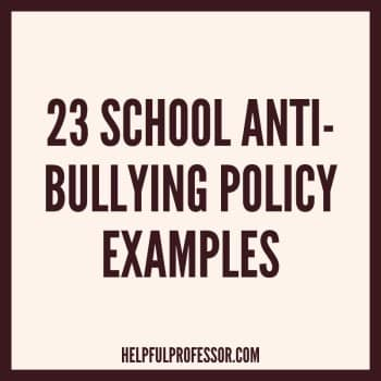 school anti bullying policy examples