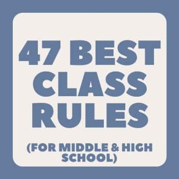class rules for middle and high school students