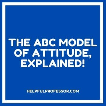 the abc model of attitude is also known as the tripartite model