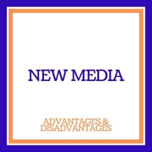 advantages and disadvantages of new media