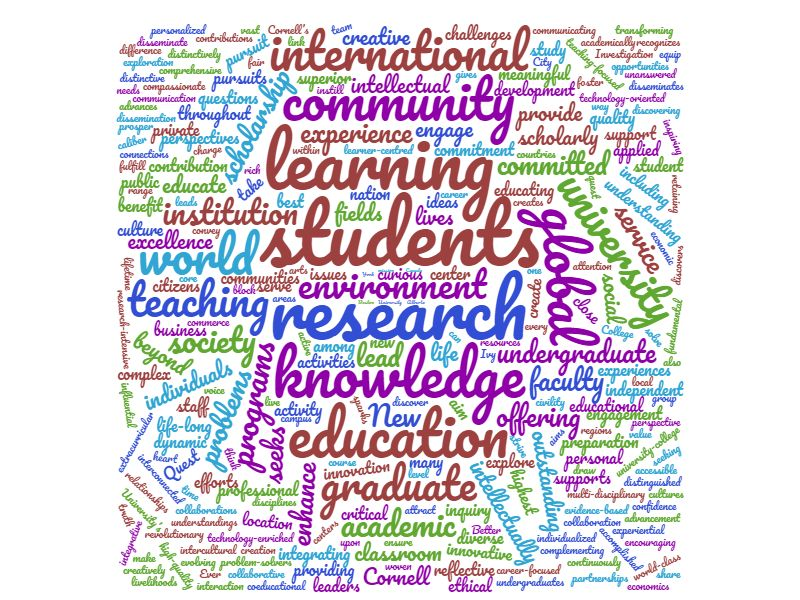university mission statement examples